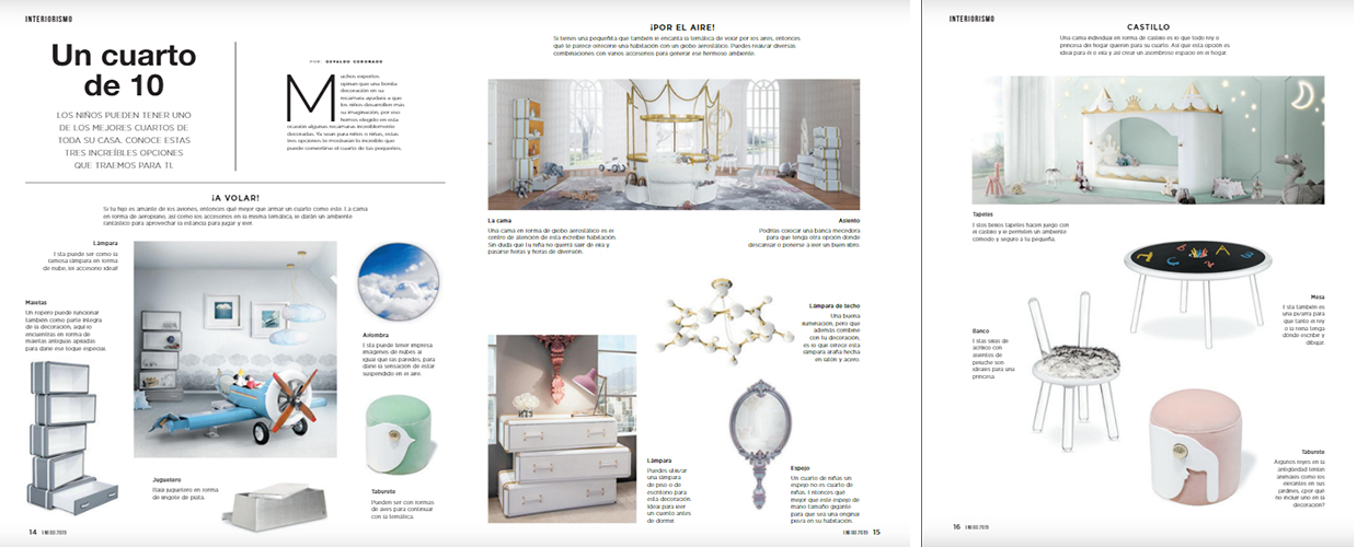 Casas e Interiores 2019 Press Clipping of Circu Magical Furniture Luxury brand for children