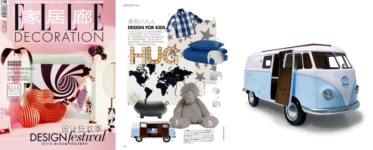 Elle Decoration 2016 Press Clipping of Circu Magical Furniture Luxury brand for children