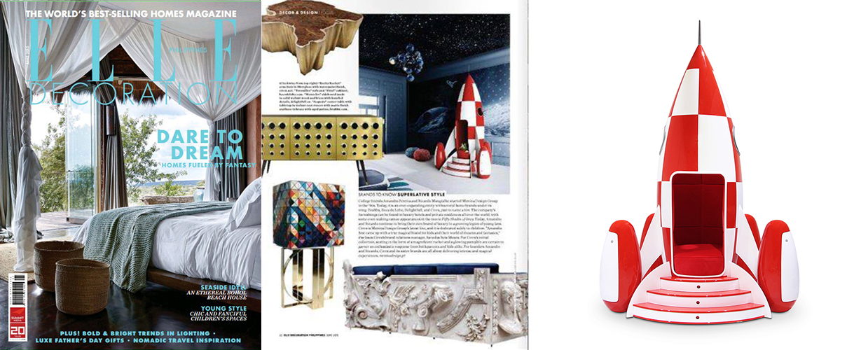 Elle Decoration 2015 Press Clipping of Circu Magical Furniture Luxury brand for children