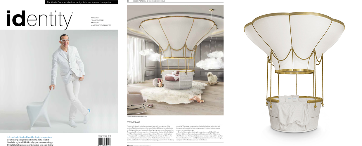 Identity 2016 Press Clipping of Circu Magical Furniture Luxury brand for children