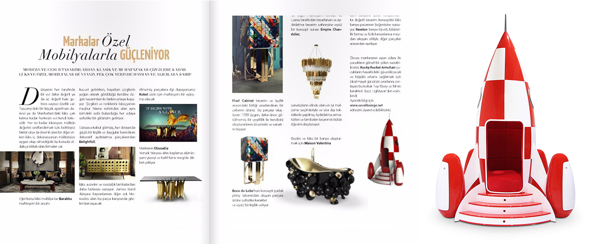 Jewellery Magazine 2015 Press Clipping of Circu Magical Furniture Luxury brand for children