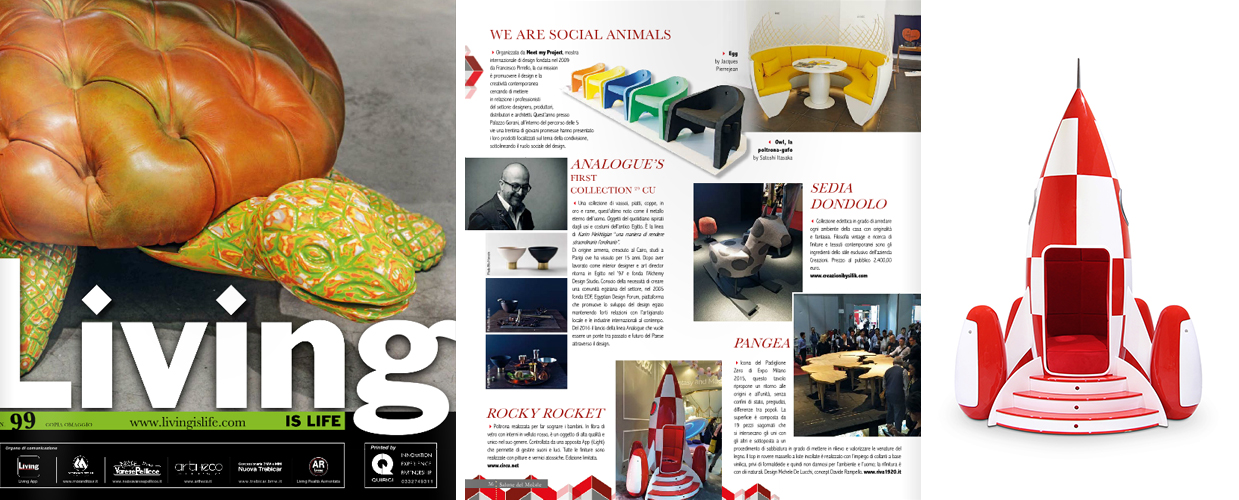 Living is Life 2016 Press Clipping of Circu Magical Furniture Luxury brand for children