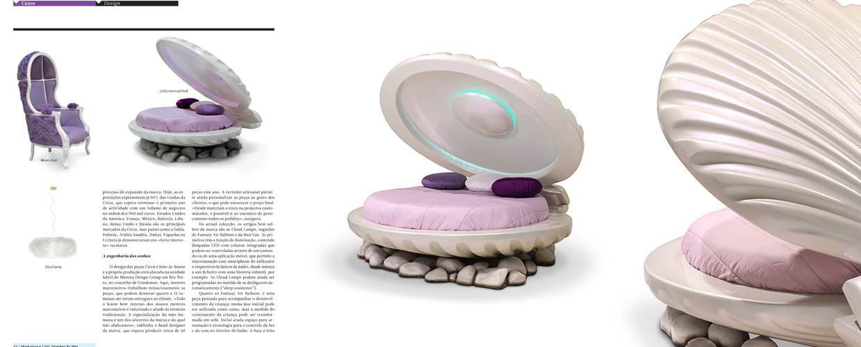 Marketeer Portugal 2016 Press Clipping of Circu Magical Furniture Luxury brand for children