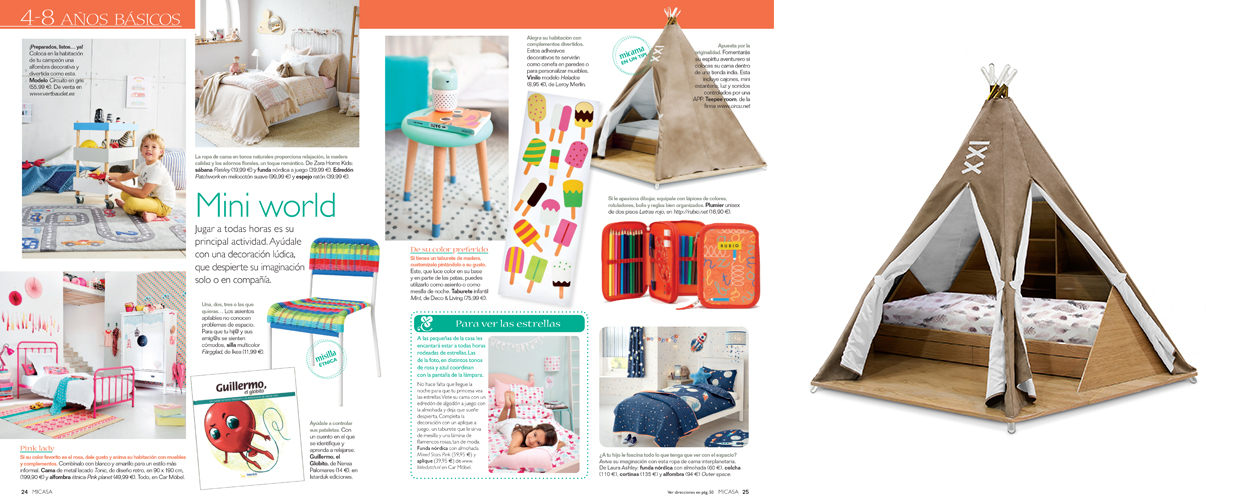Micasa 2017 Press Clipping of Circu Magical Furniture Luxury brand for children
