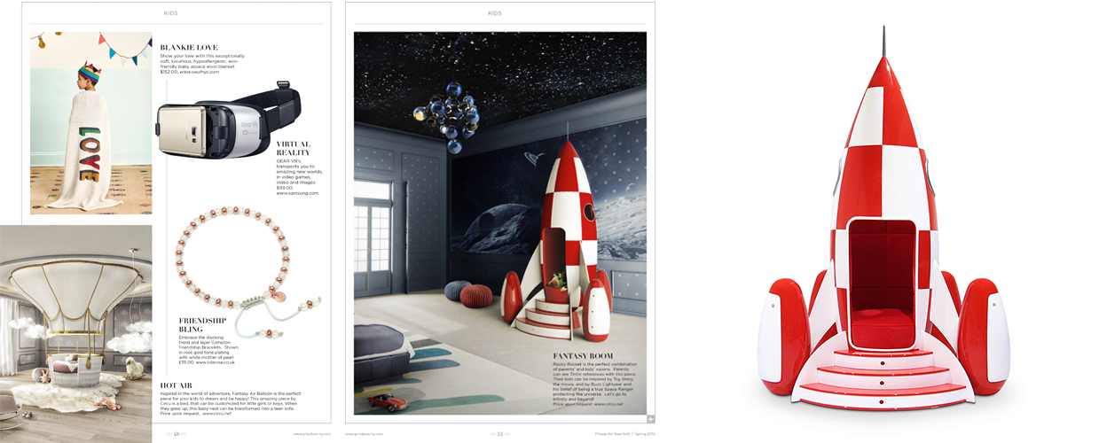 Private Air 2016 Press Clipping of Circu Magical Furniture Luxury brand for children