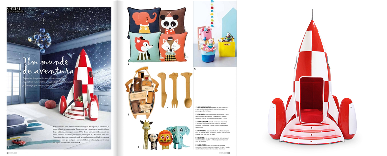 Revista Decor 2014 Press Clipping of Circu Magical Furniture Luxury brand for children