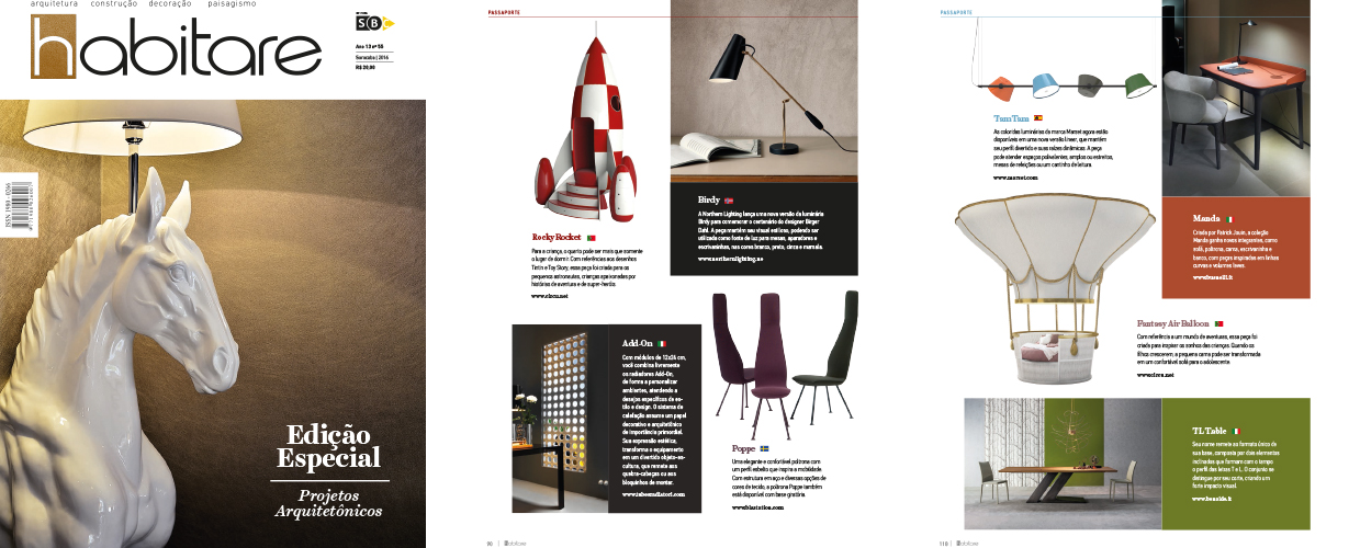 Revista Habitare 2016 Press Clipping of Circu Magical Furniture Luxury brand for children