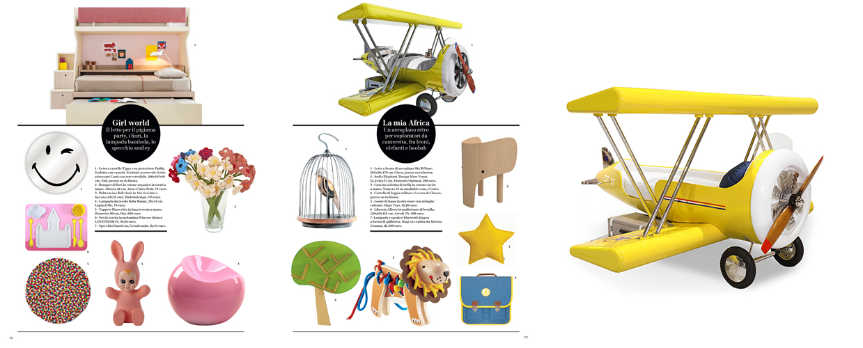 Style Piccoli 2017 Press Clipping of Circu Magical Furniture Luxury brand for children