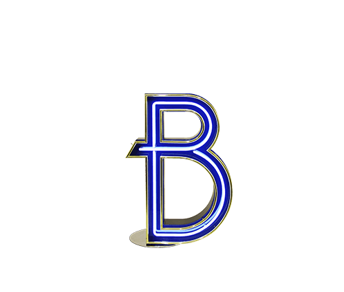 Letter B Graphic Lamp