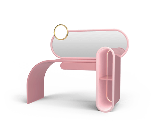 Bubble Gum Dressing Table