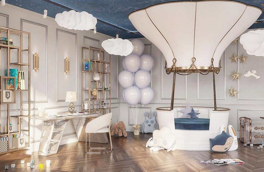 A Luxury Child Bedroom in an Apartment at the Heart of Moscow