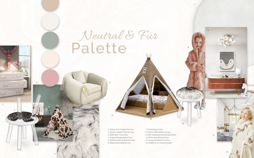 Kids Bedroom Trends 2019 - Neutral Colours and Furs