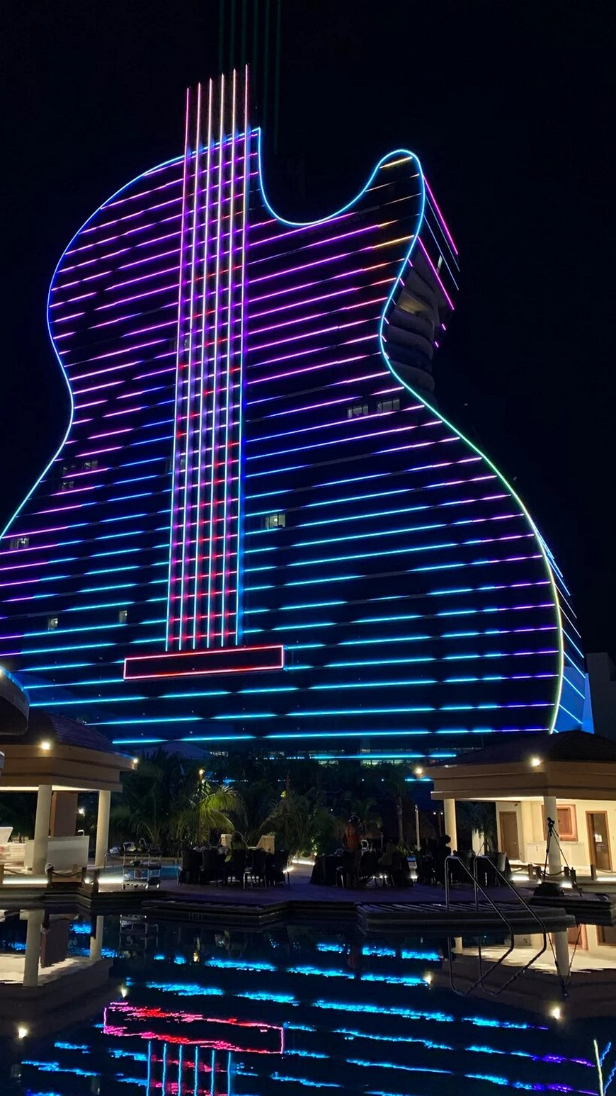 Hard Rock Hotel Opens in Florida With Guitar-Shaped Building
