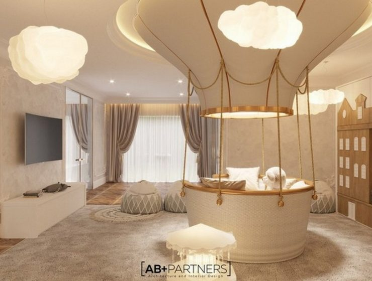 AB + Partners Amazing Nursery with Fantasy Air Balloon