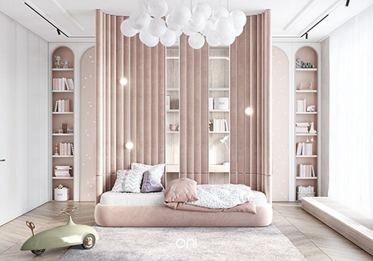 An Incredible Pastel Kids Bedroom Design by Oni Architects