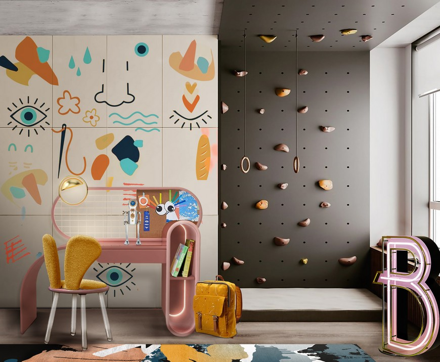 Modern Playroom Design with Bright Colours