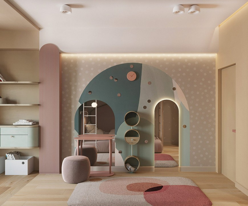 Modern Kids Bedroom with Incredible Functionality by He.D Group