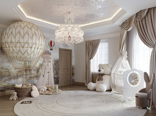 Neutral-Toned Nursery Room by Dom-A