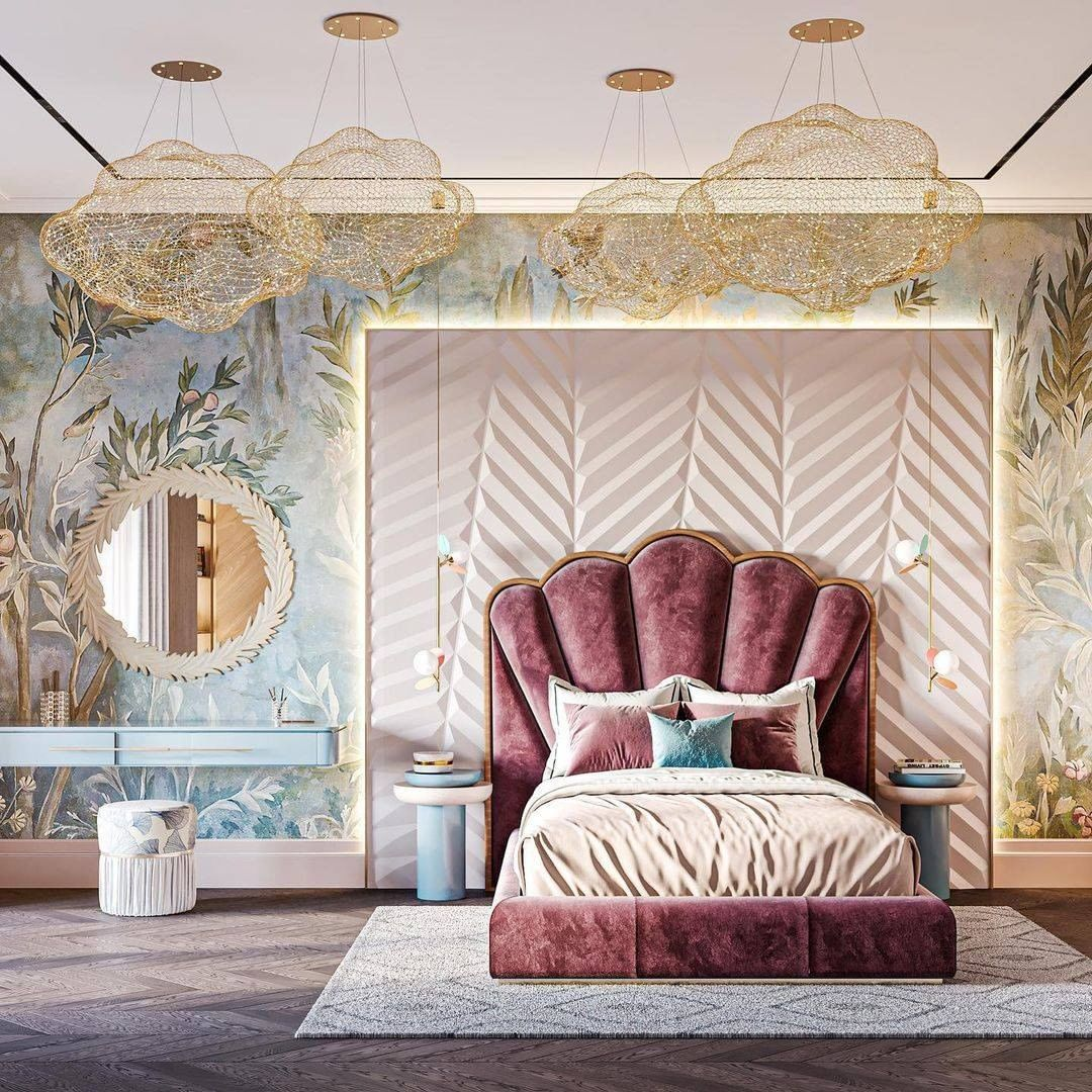 Modern Classic Girls Bedroom by Red Robot Design