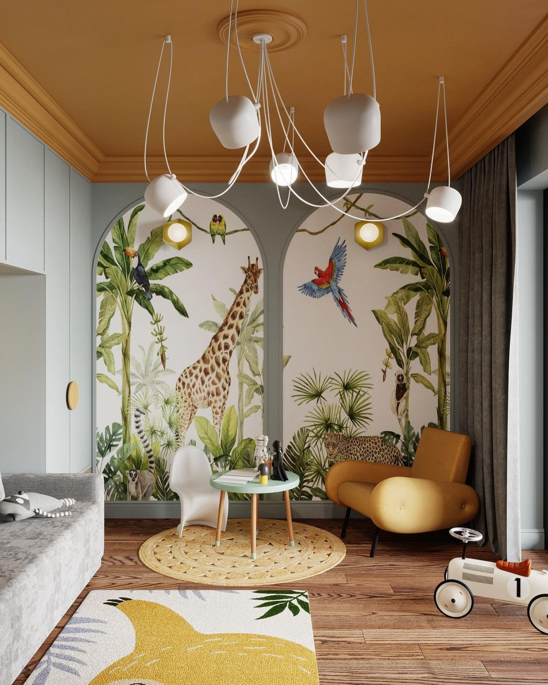 Tropical kids play room design by SHUBOCHKINI architects
