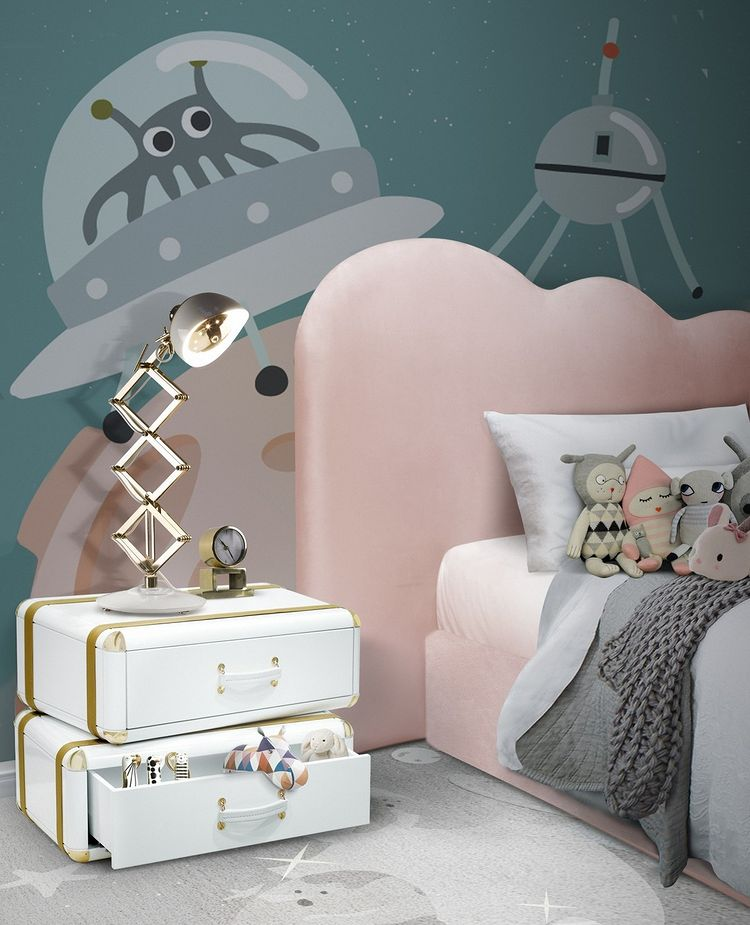 Modern Girls Bedroom with Planetary Inspiration