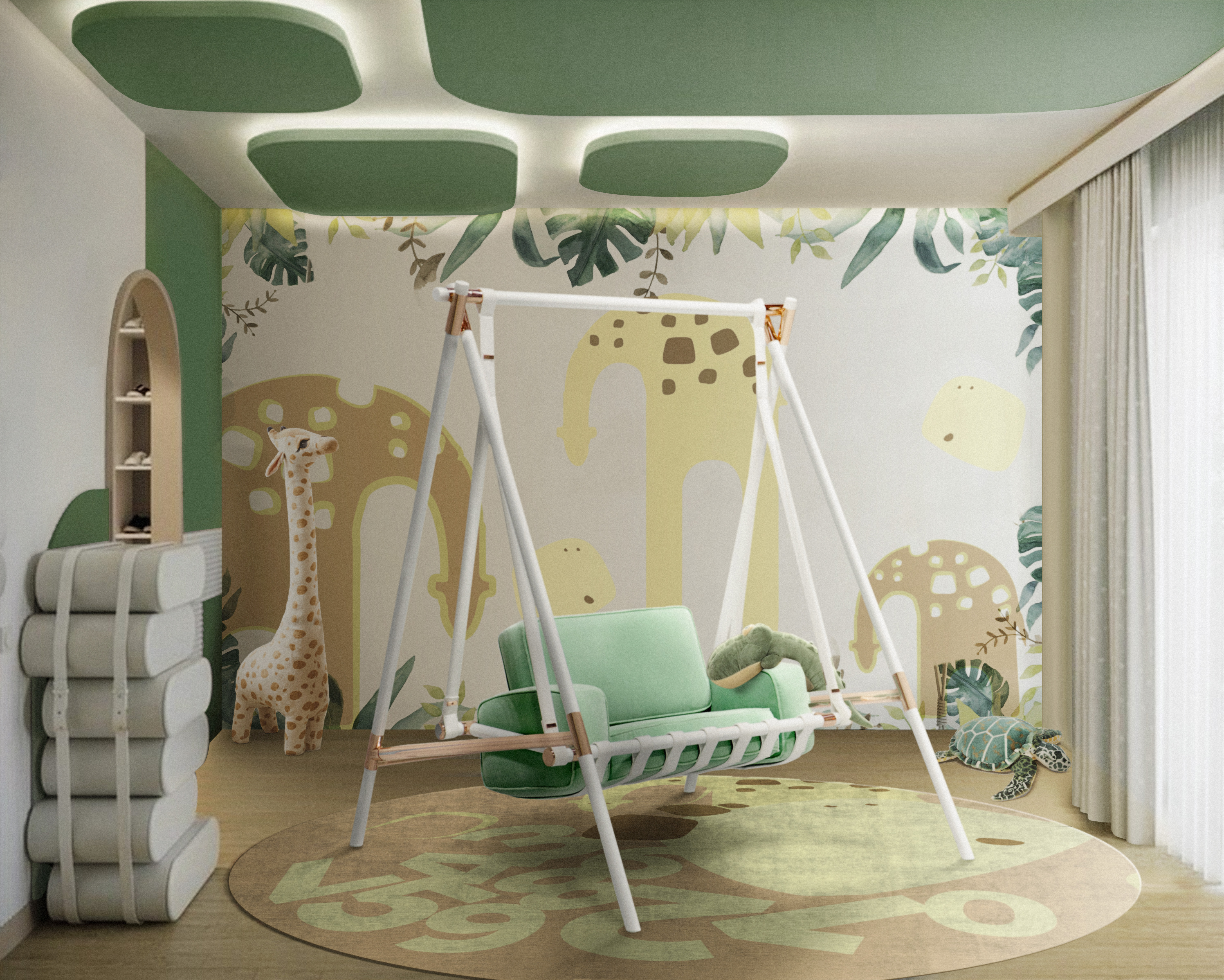 Kids playroom design with Tropical Vibes