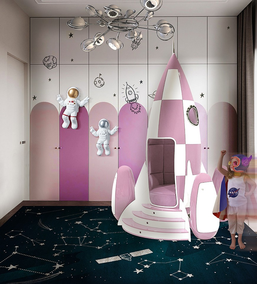 Themed Kids Bedrooms that will Make you Fall in Love Quickly space-themed kids bedroom Get a Space-Themed Kids Bedroom Effortlessly With Our Help! Themed Kids Bedrooms that will Make you Fall in Love Quickly 4