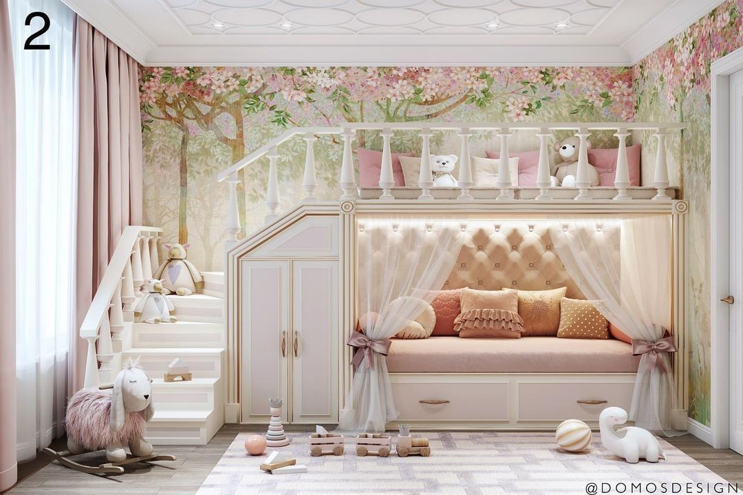 Magical Bedroom for a Girl by Domos Design Studio