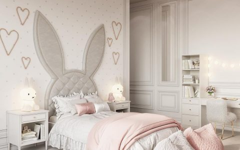 Bunny bedroom theme designed by Domoff Interiors