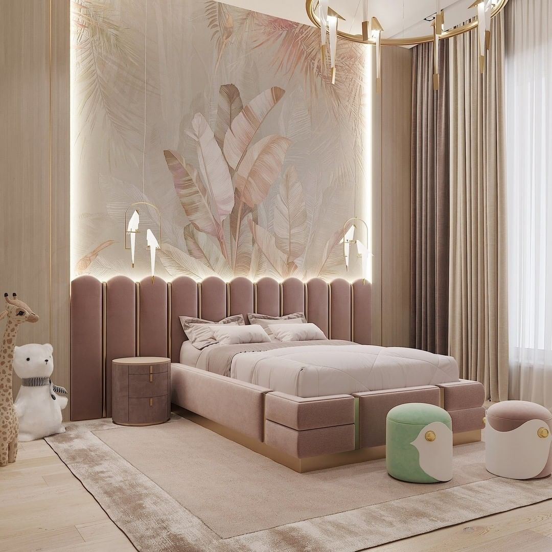 Luxury girls room design by Dom-A Casa Ricca with a romantic touch