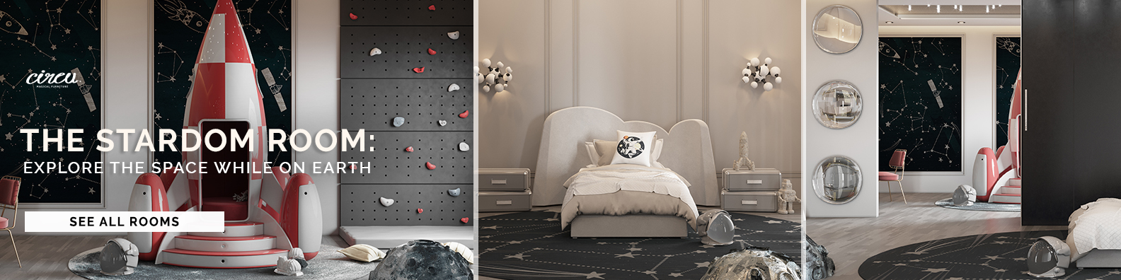 Luxury kids study area with a space theme decor  Kids Bedroom Ideas – A High-End Kids Study with Starry Vibes 1584x396 3
