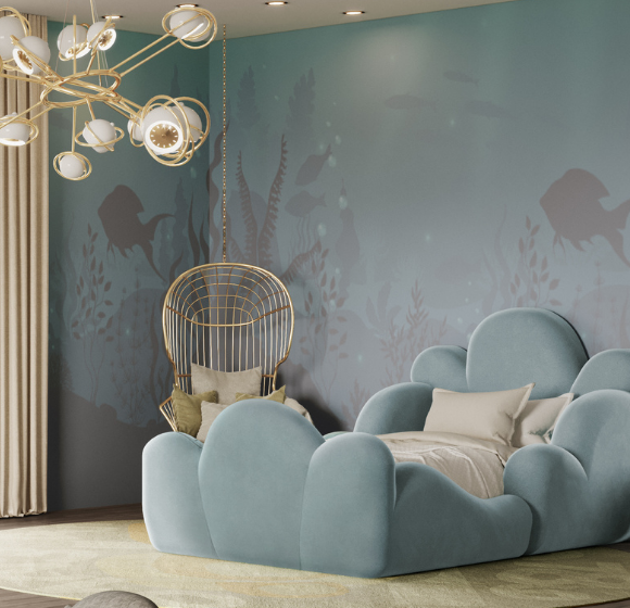 Luxury kids bedroom design inspired by the sea