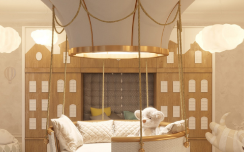 Royal nursery room by AB+PARTNERS in the Queen's hometown