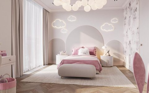 Lovely Pink Girls Bedroom Design by Egorova Marina