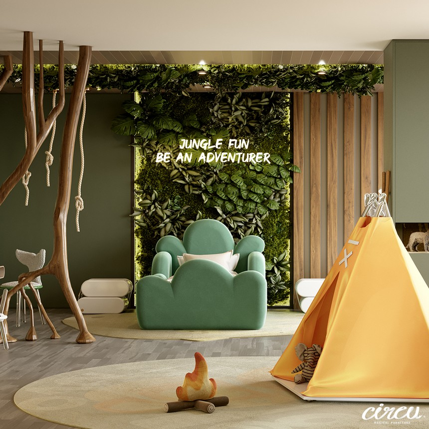 Jungle Theme Kids Room - a luxury project inspired by nature