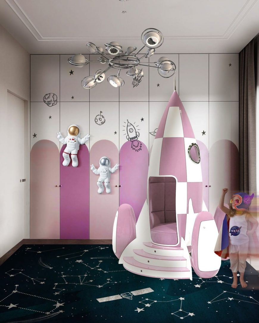 Space-themed Playroom with Amazing Furniture