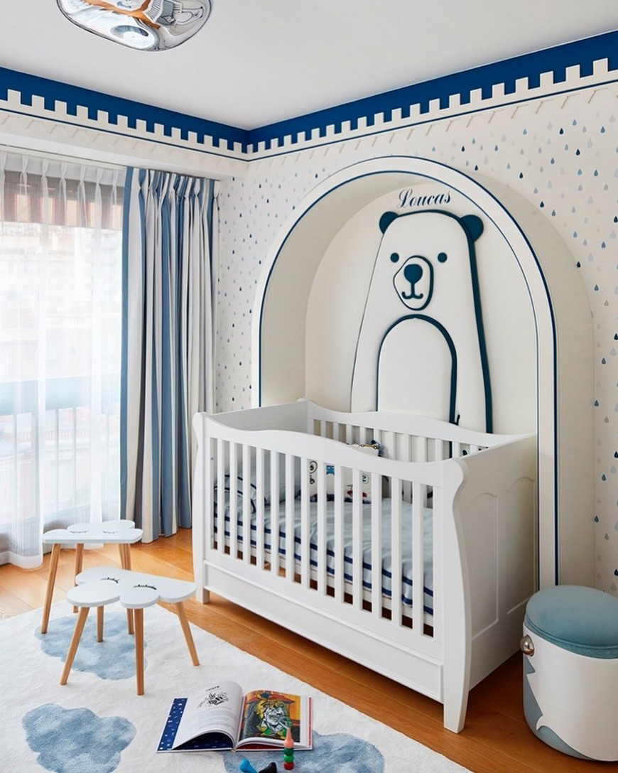 Baby Boy Nursery room design by Stéphanie Coutas