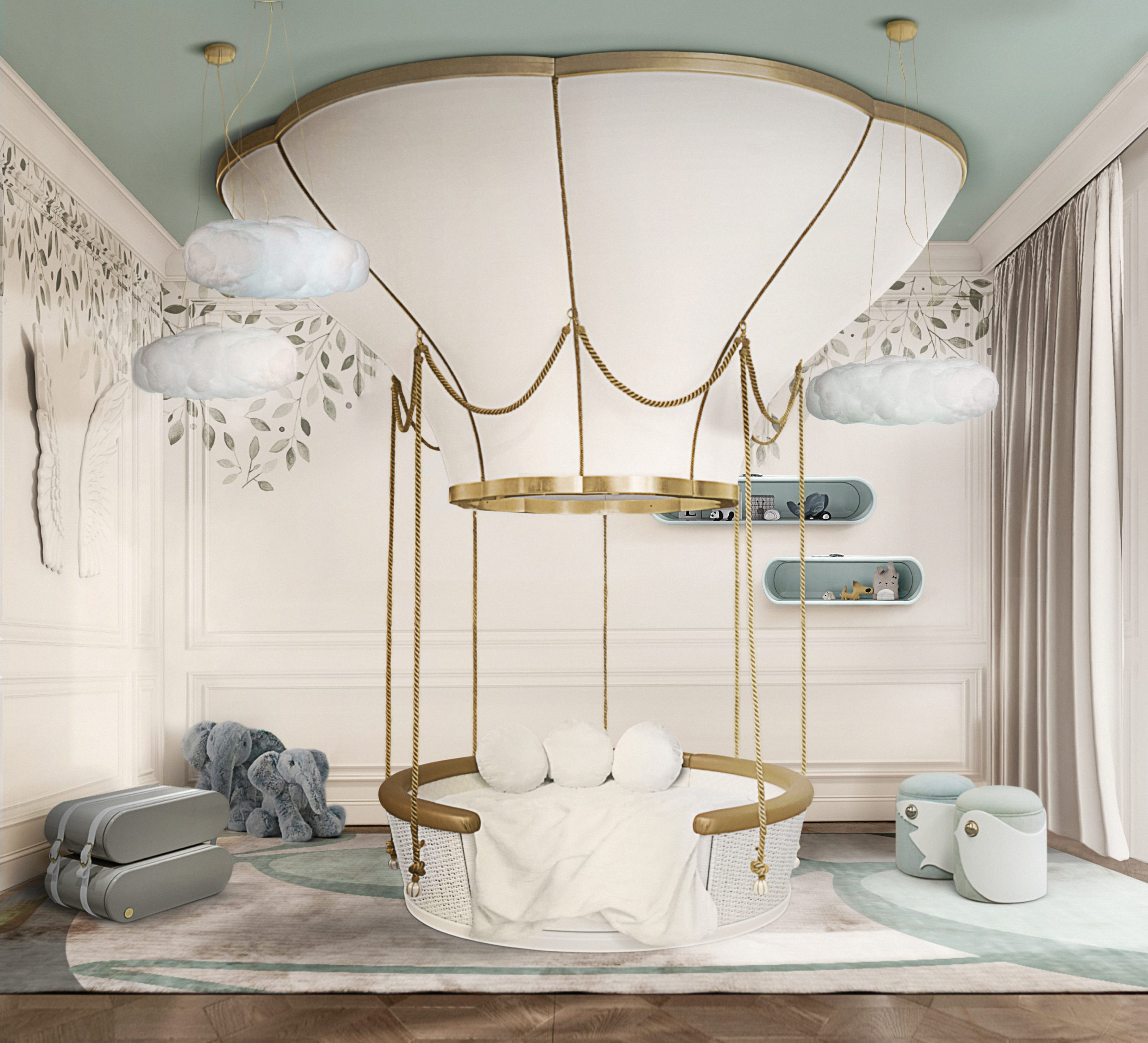 Fantasy Air Balloon Bed: the ultimate luxury kids bed
