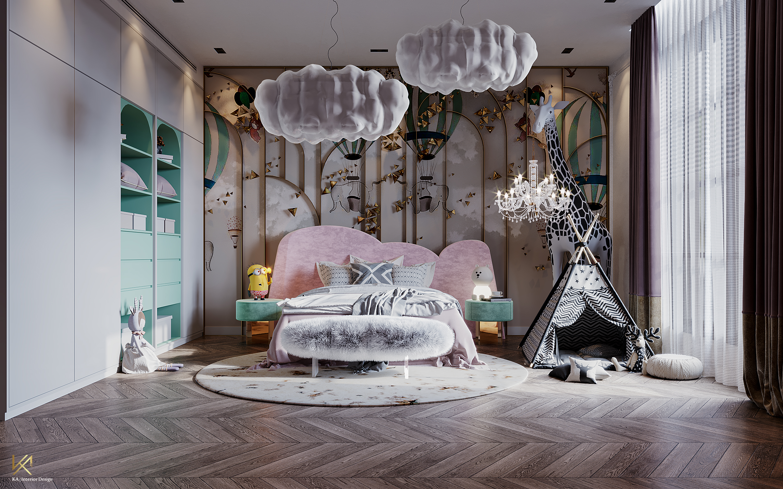 Luxury Girls Room: In a Cloudy Sky, be a golden star-3
