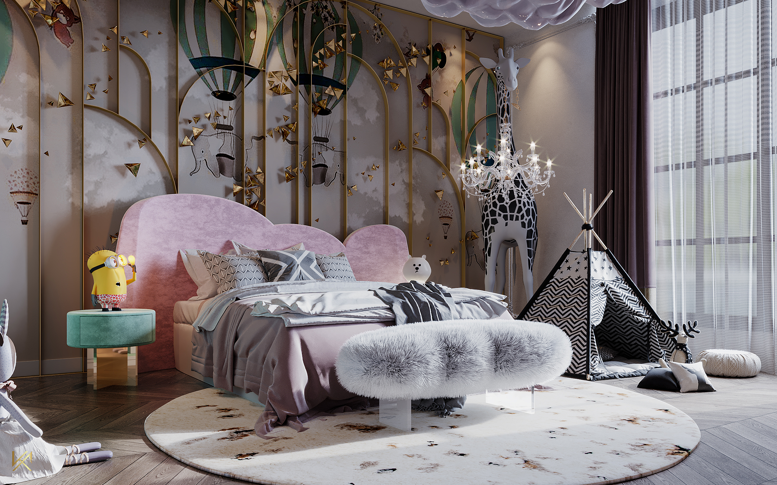 Luxury Girls Room: In a Cloudy Sky, be a golden star-2