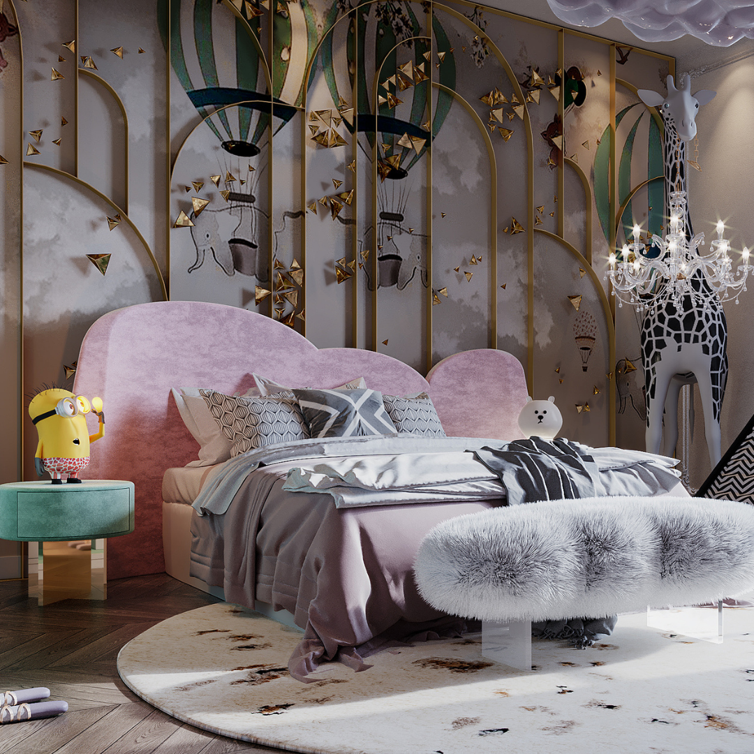 Luxury Girls Room: In a Cloudy Sky, be a golden star-1