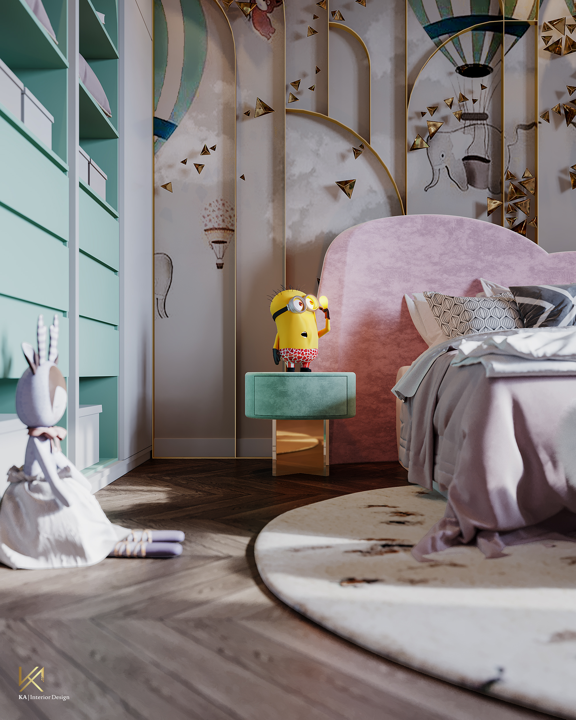 Luxury Girls Room: In a Cloudy Sky, be a golden star-5