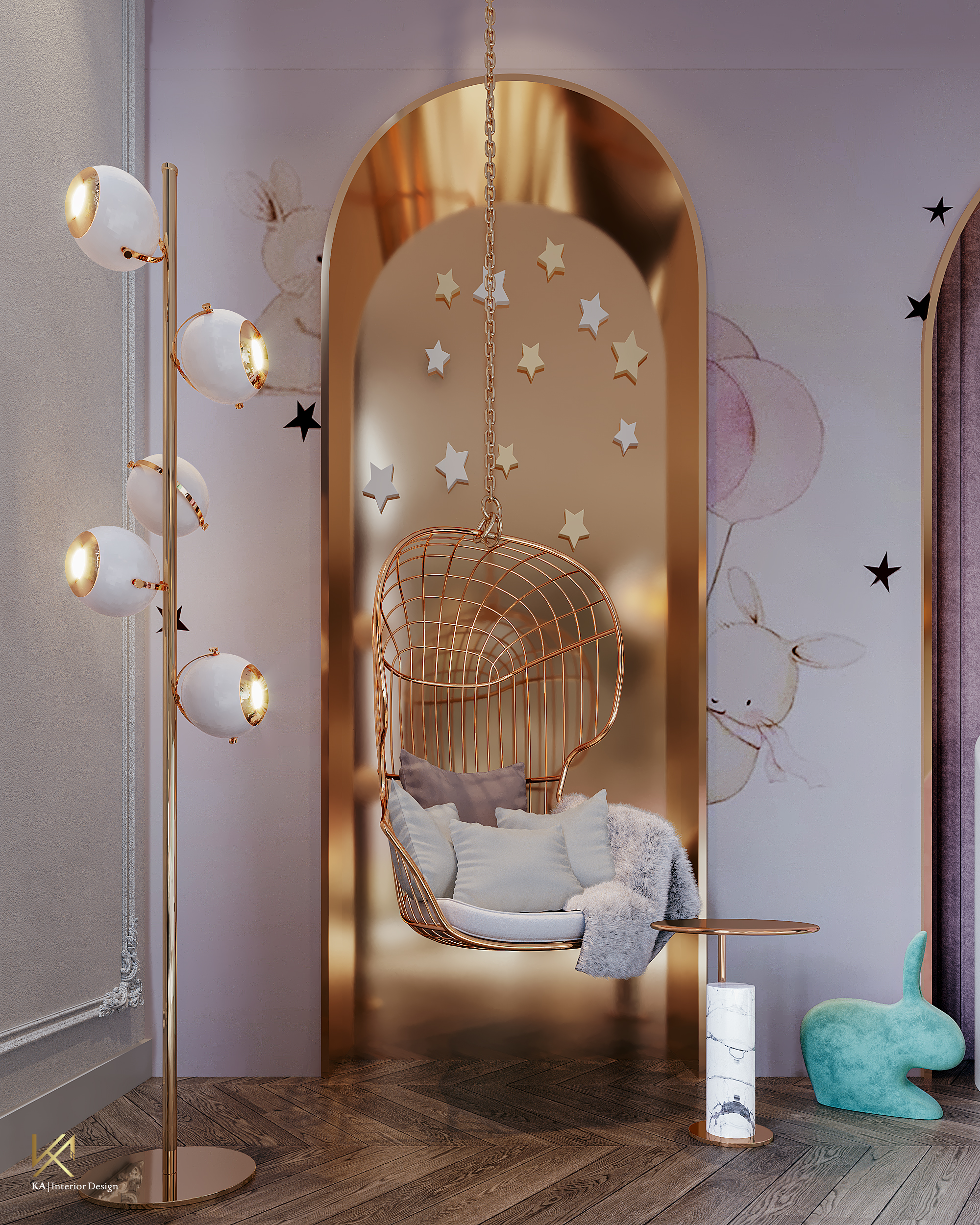 Luxury Girls Room: In a Cloudy Sky, be a golden star-7