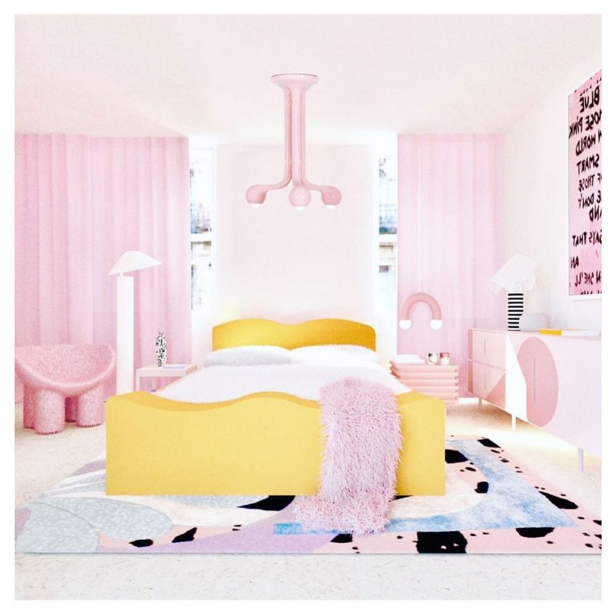 A Colourful Bedroom Design by Patricia Bustos