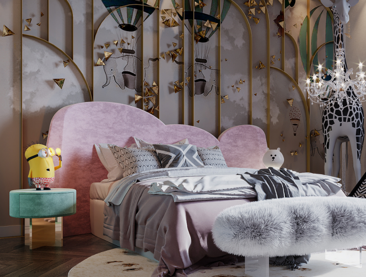 Luxury Girls Room: A Beautiful Sleeping Area in the Clouds