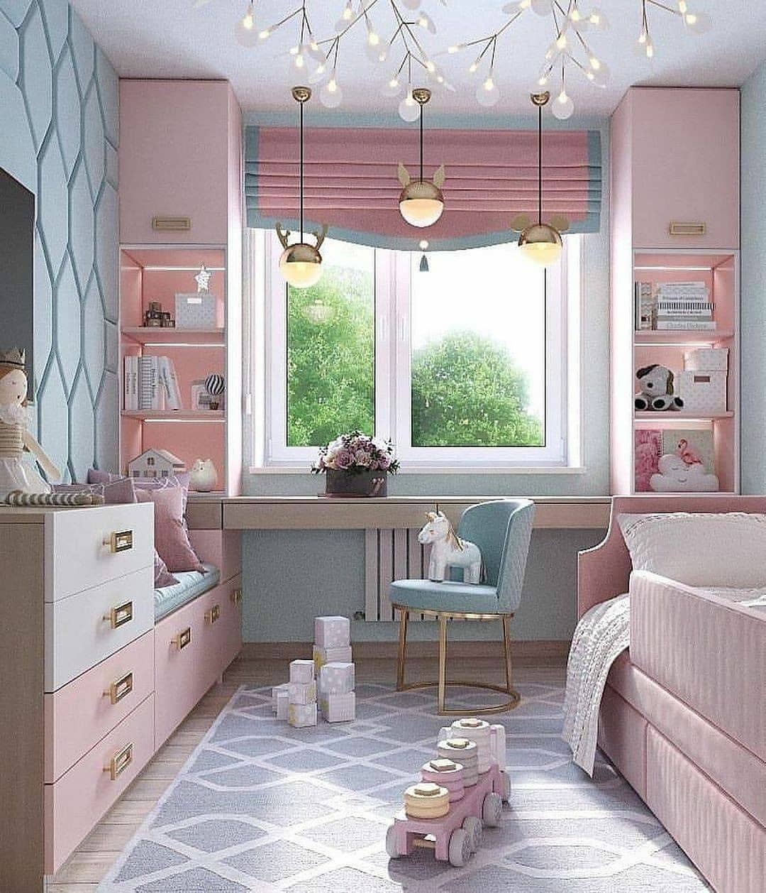 Girls Study Area - An adorable inspiration by VIZZOS