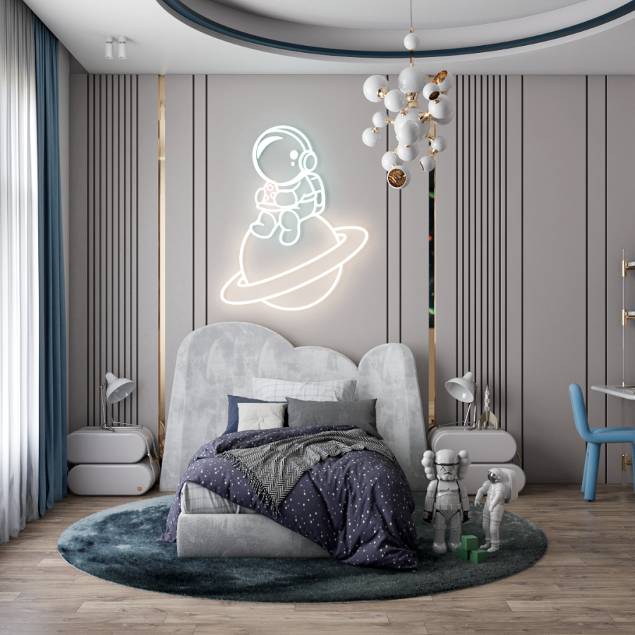 Modern Kids Bedroom inspired by the space