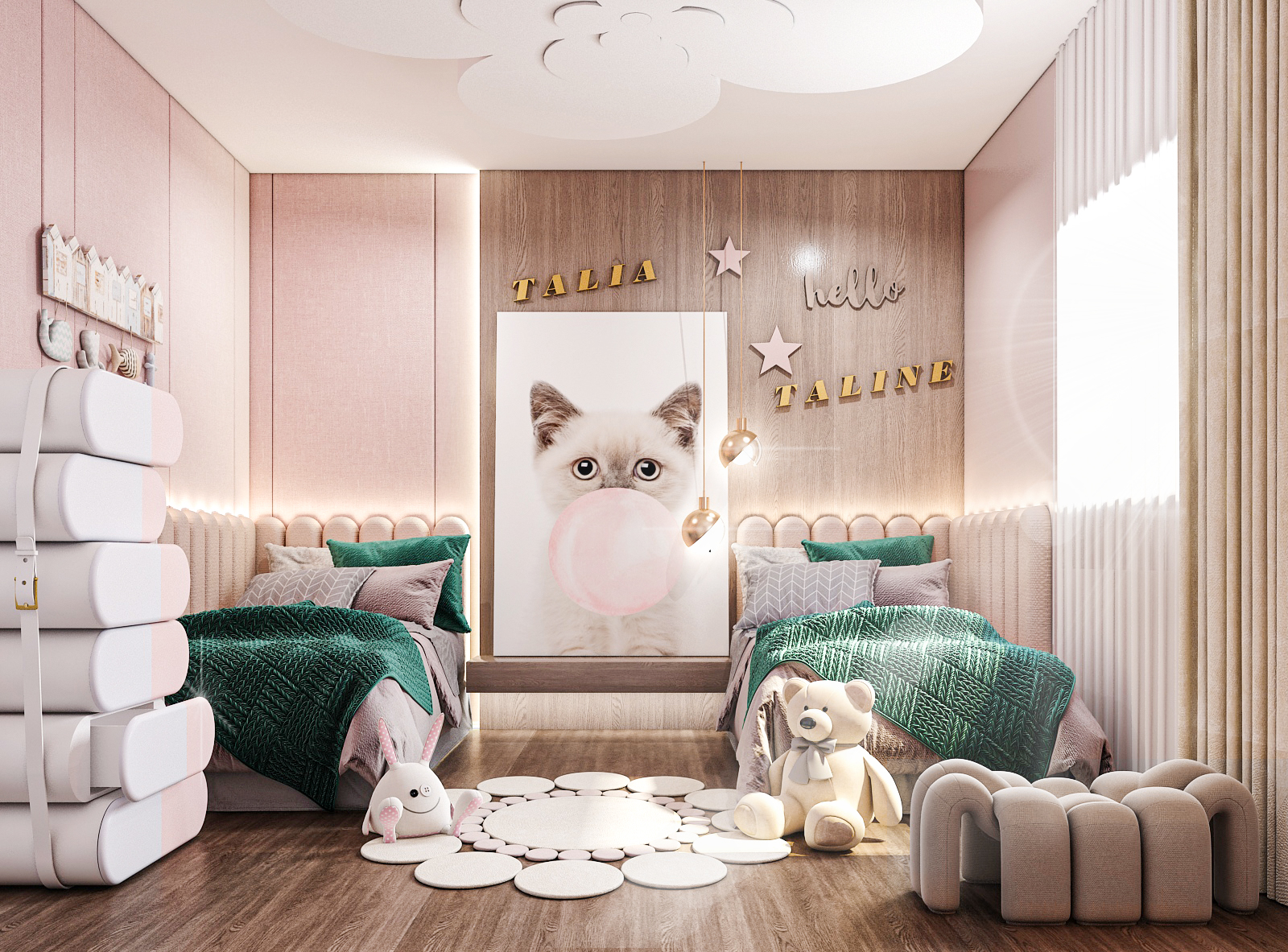 Shared girls room: Hollywood Glamour