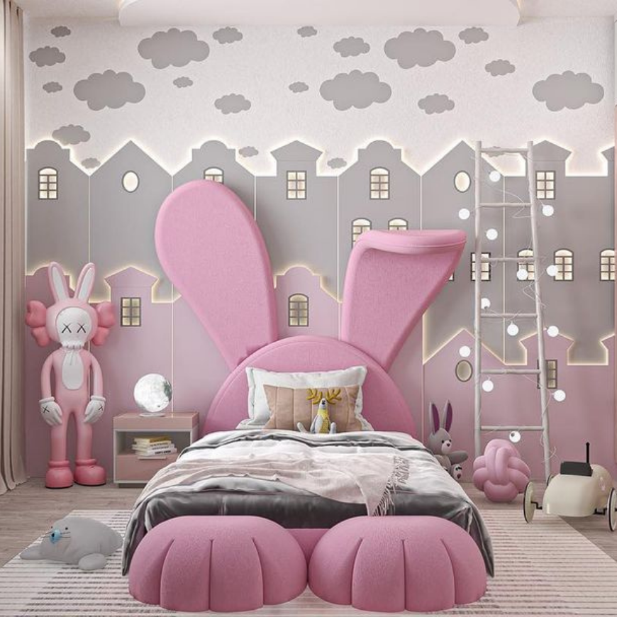 Bunny-Shaped Bed Your Kids Room Needs