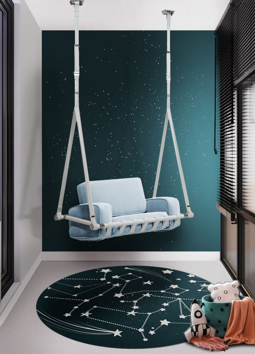 Luxury Playroom Design for Kids with a Unique Chair